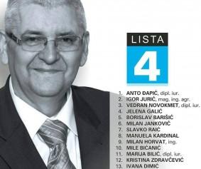 Domovinska koalicija lista kandidata 4 izborna jedinica